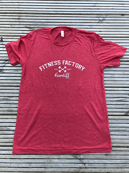 Red Tri-Blend Text T