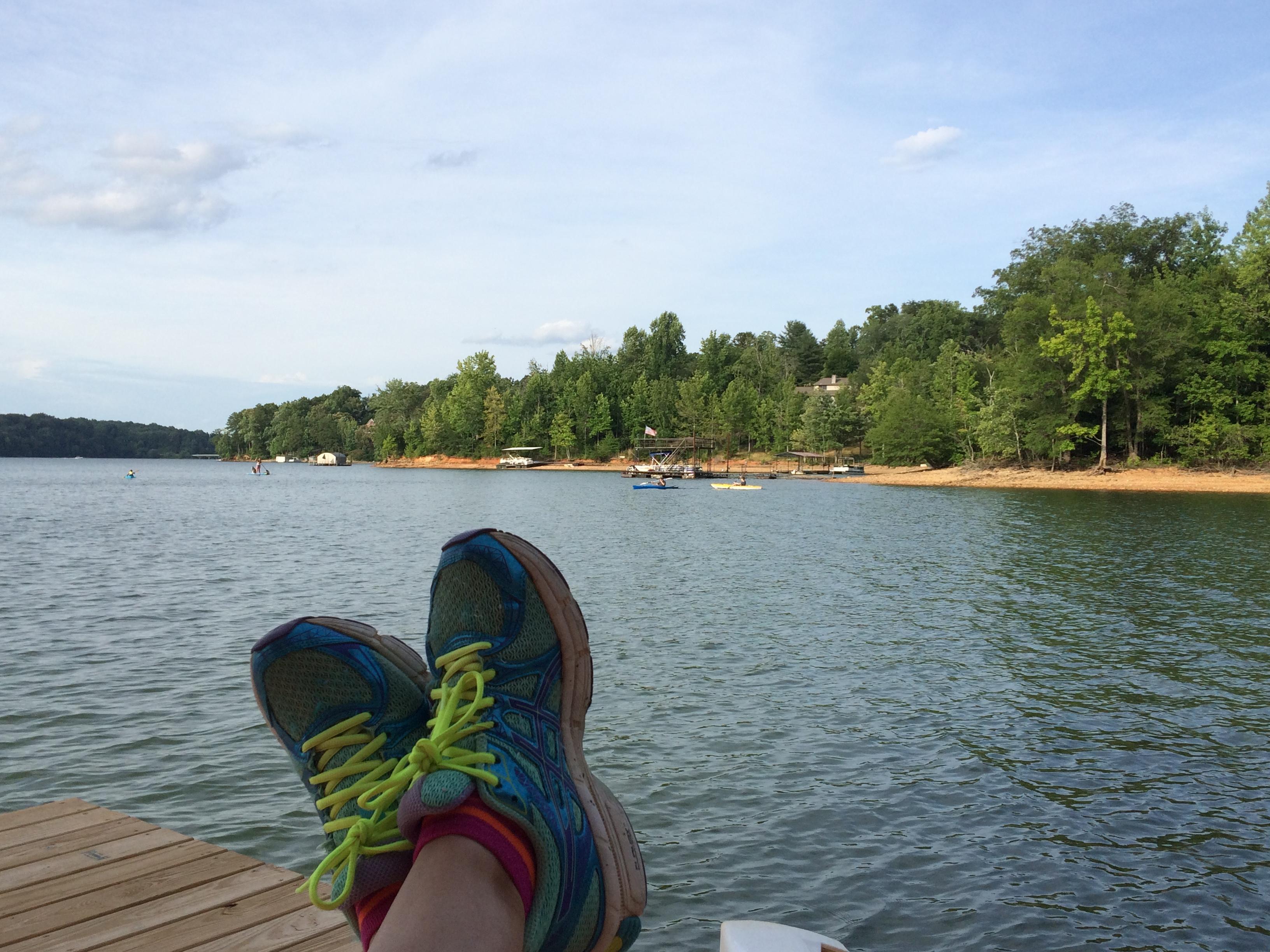 Toes at the dock Lake Lanier 2016