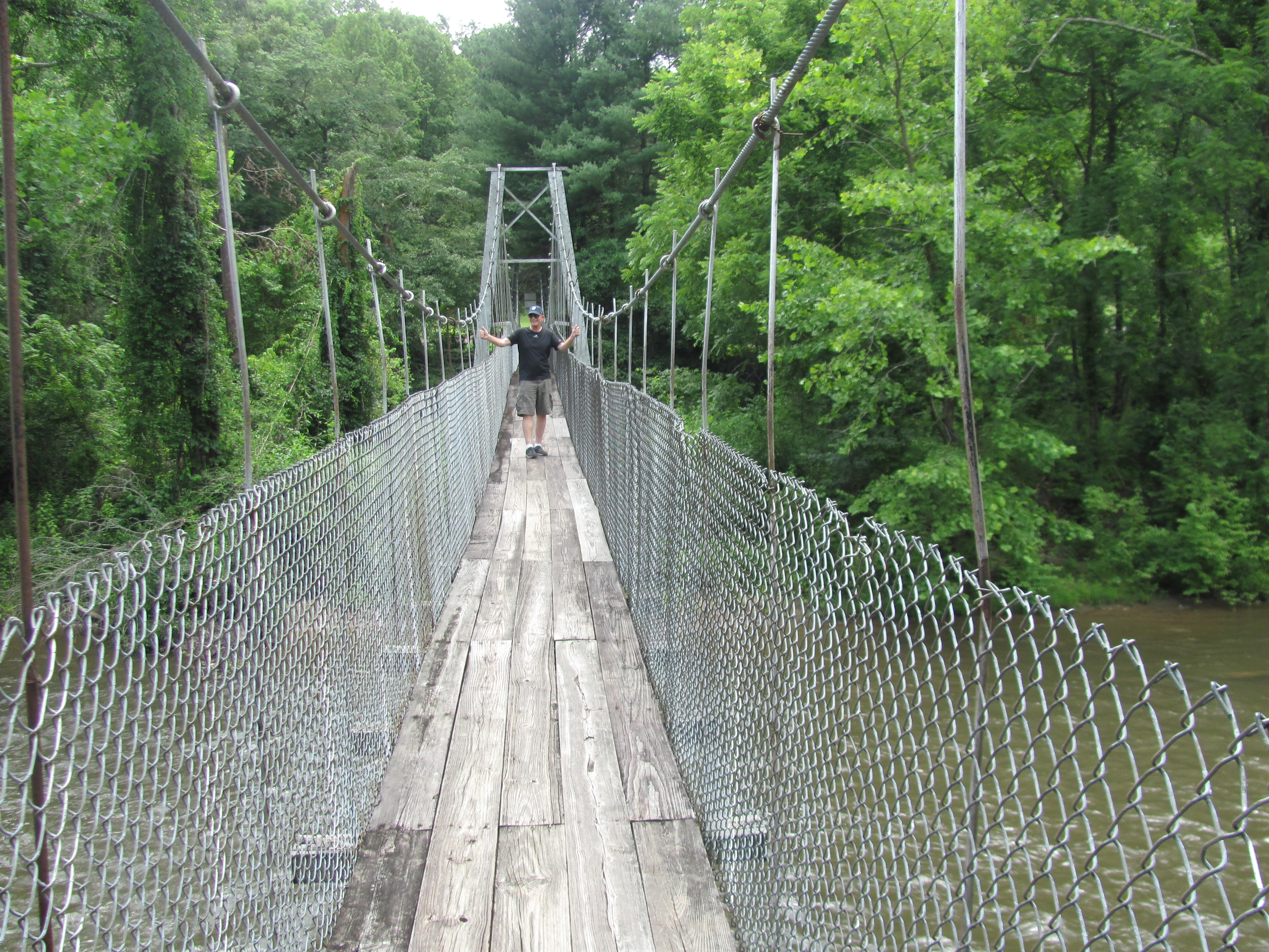 Swinging Bridge near Cherokee NC