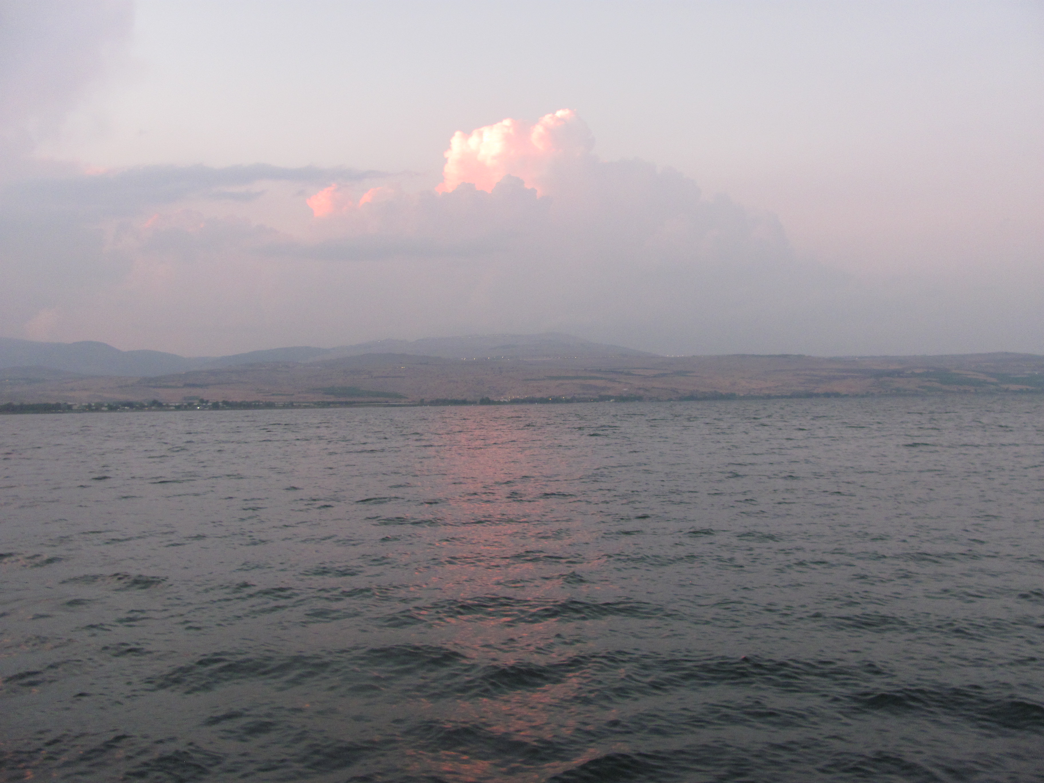Sunset on the Galilee