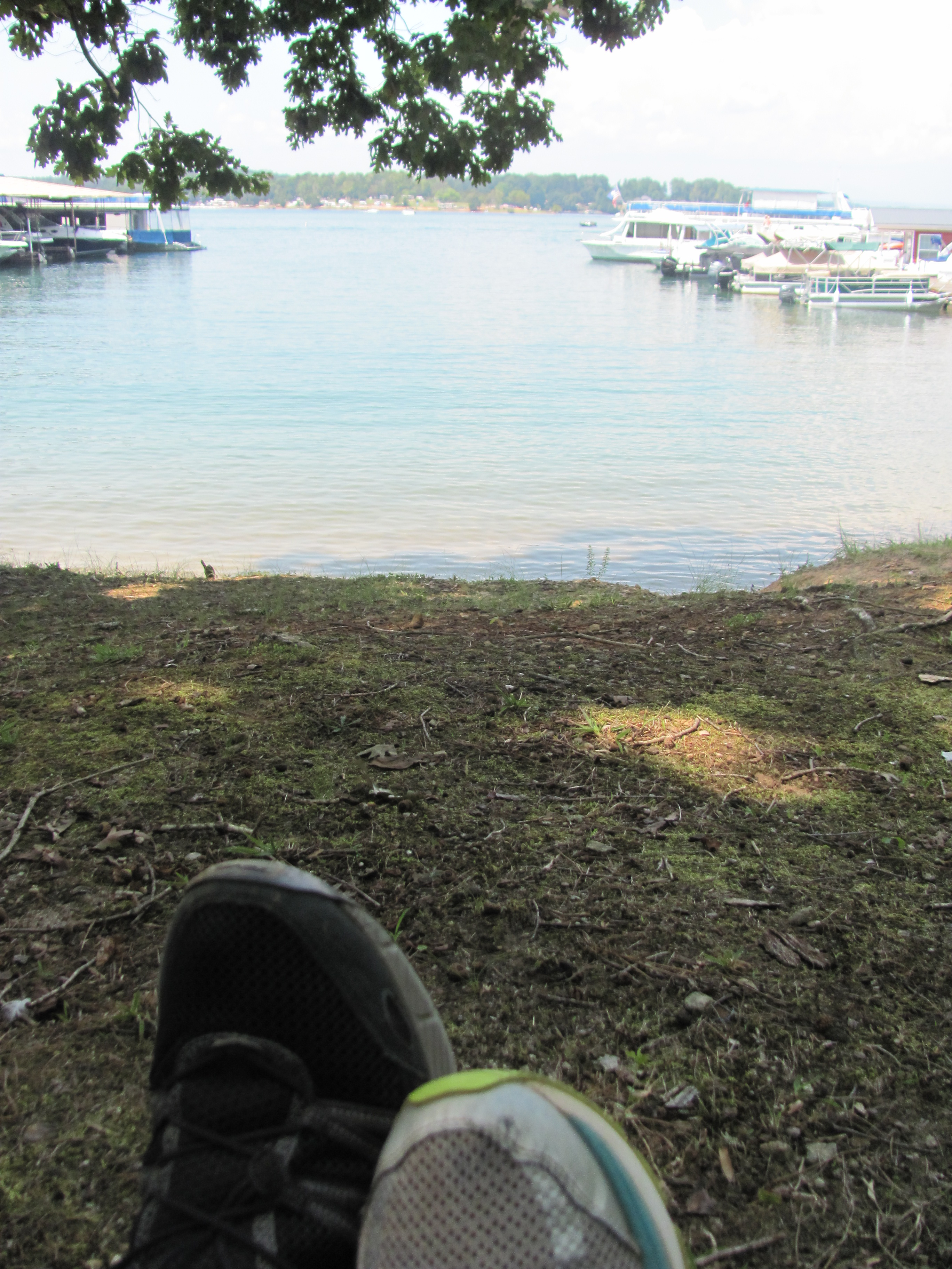 Our Travel Thirsty Toes at Lake Keowee S.C. waiting for the Eclipse August 21, 2017