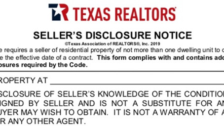 Texas Seller's Disclosure and You