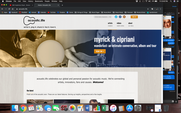 Acoustic Life homepage