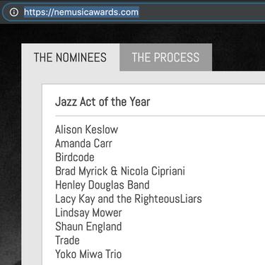 New England Music Award nomination