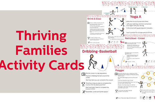 Thriving Families Activity Card Set