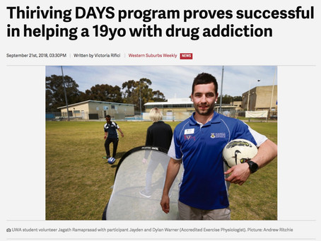 🗞In the news ... Thriving-DAYS for youth substance use disorders