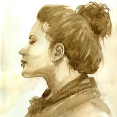 Girl in Sepia