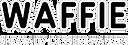 Waffie wordmark logo black and white inv