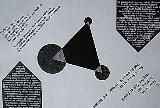 Polydimenzionalis mezok Galerie Feny Budapest 2002