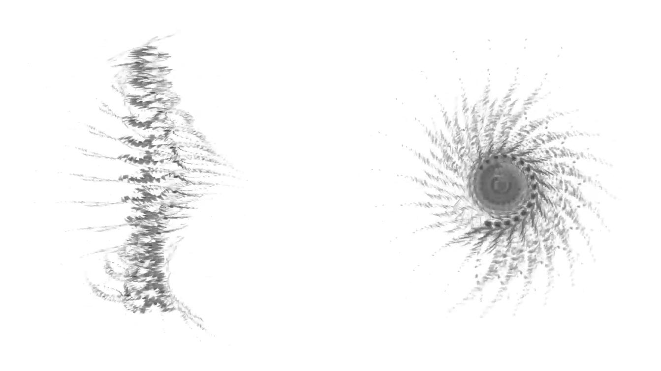 Simulation frontale & plongée