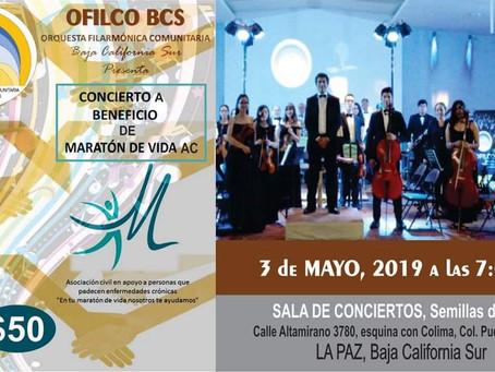 Concierto de la OFILCO en beneficio de MARATÓN DE VIDA, A.C. 3 de mayo, 2019