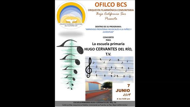 Concierto para la escuela primaria Hugo Cervantes del Río, T.V., el pasado 7 de junio, 2019