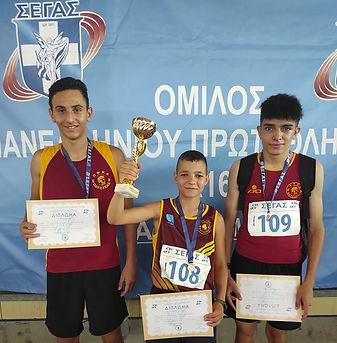 Χρυσό μετάλλιο για την ομάδα μας 3x1.200μ. στο Πανελλήνιο Κ16