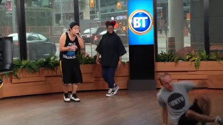 Dancing on Breakfast Television with UNITY Charity to promote 10th Annual Festival.