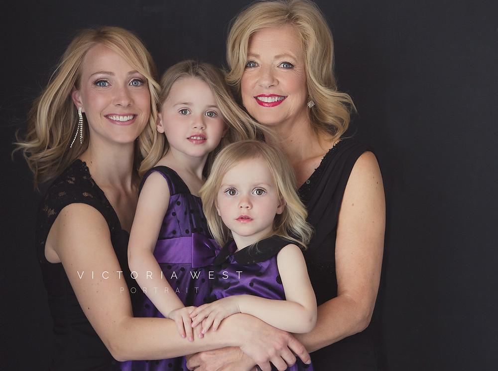 3 generations of women family photo