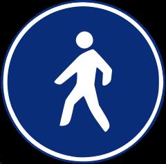R-410 Camino reservado para peatones.