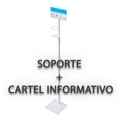 Soporte + Cartel informativo Gel Hidroalcoholico