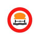 R-110 Entrada prohibida a vehículos que transporten productos contaminantes