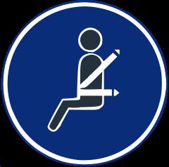 R-417 Uso obligatorio del cinturón de seguridad.