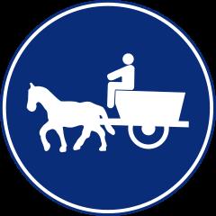 R-408 Camino para vehículos de tracción animal.