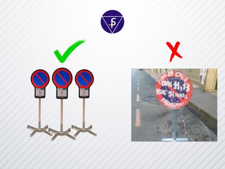 Normativa de las señales de estacionamiento prohibido