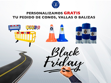 oferta vallas,conos y bolardos black fri