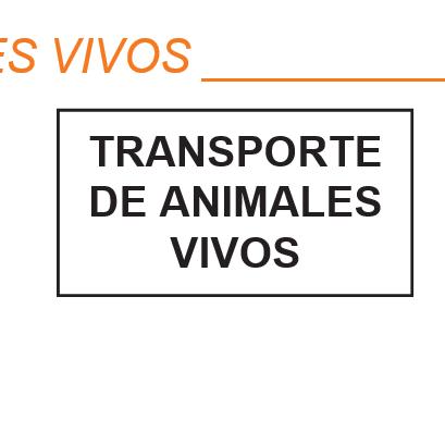PLACA DE TRANSPORTES DE ANIMALES VIVOS