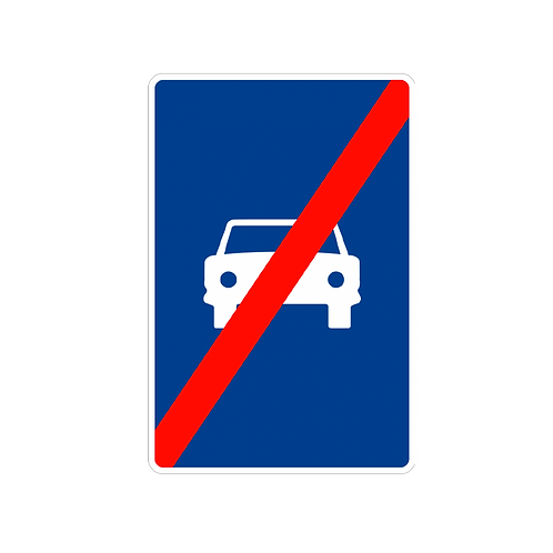 S-4 Fin de vía reservada para automóviles.