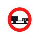 R-112 Entrada prohibida a vehículos de motor con remolque