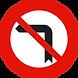 señal giro prohibido