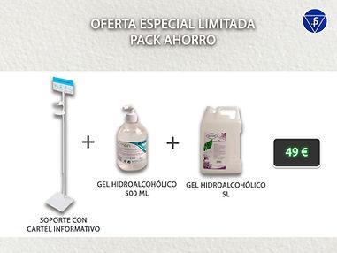 Oferta pack gel hidroalcohólico