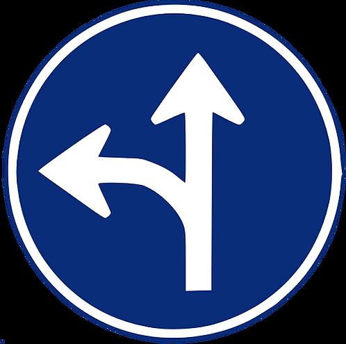 R-403 B Únicas direcciones y sentidos permitidos.