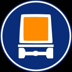 R-414 Calzada para vehículos que transporten mercancías peligrosas.