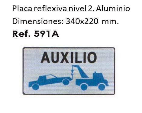 V-24: PLACA PARA GRÚA DE SERVICIO DE AUXILIOS EN CARRETERA