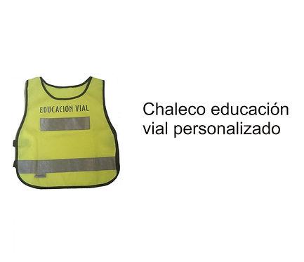 Chaleco personalizado educación vial