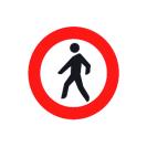 R-116 Entrada prohibida a peatones.