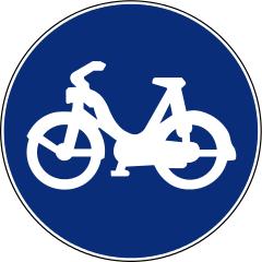R-407 B Vía reservada a ciclomotores.