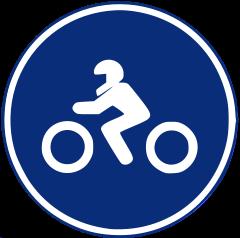 R-405 Calzada para motocicletas sin sidecar.