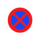 R-307 Parada y estacionamiento prohibido.
