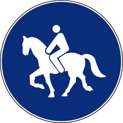 R-409 Camino reservado para animales de montura.