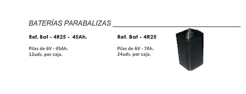 BATERÍAS PARA BALIZAS