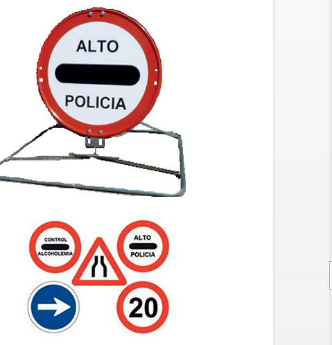 KIT DE SEÑALIZACION PARA USO POLICIAL
