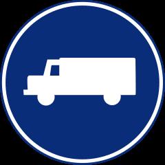 R-406 Calzada para camiones, furgones y furgonetas.