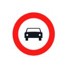 R-103 Entrada prohibida a vehículos de motor, excepto motocicletas de dos rueda