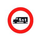 R-107 Entrada prohibida a vehículos destinados al transporte de mercancías