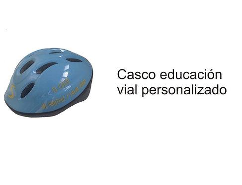 Casco personalizado educación vial