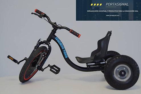 Triciclo educación vial + casco y chaleco