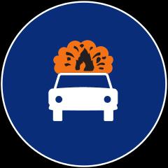 R-416 Calzada para vehículos que transportan mercancías explosivas e inflamable