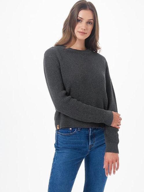 TENTREE - Highline Cotton Crew Sweater - dark grey heather