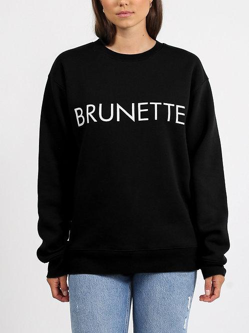 """BRUNETTE THE LABEL - """"BRUNETTE"""" Crew Sweatshirt"""